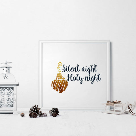 Silent Night Holy Night - Printable Wall Art for Christmas