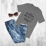 Thankful and Grateful - Womens T-Shirt