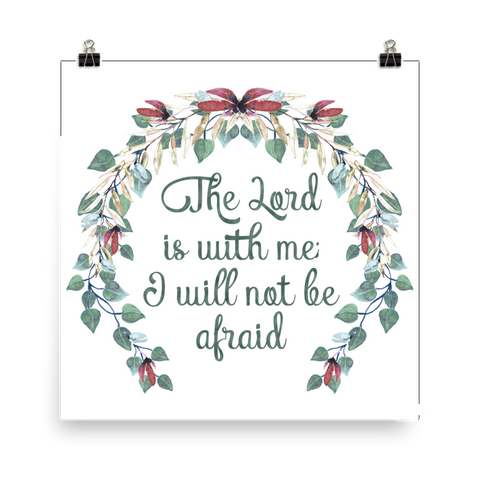 The Lord is With Me - Downloadable Art Print