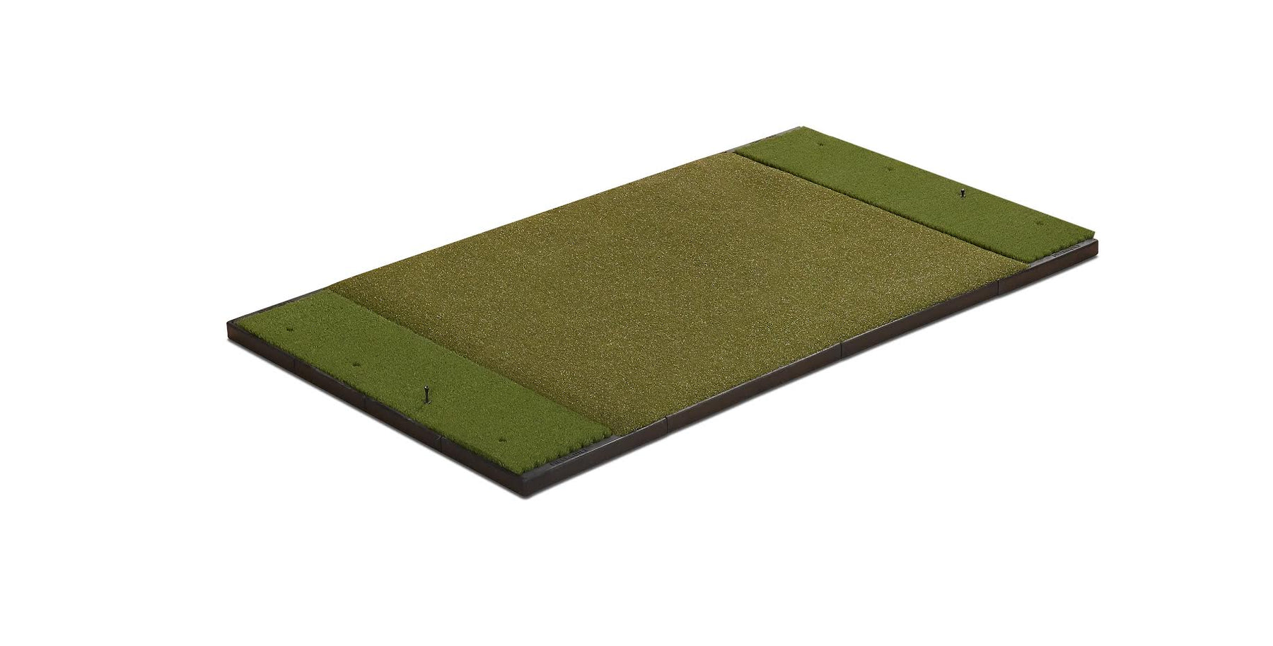 6' x 4' Double Hitting Mat Traditional Stance & Nylon Grass