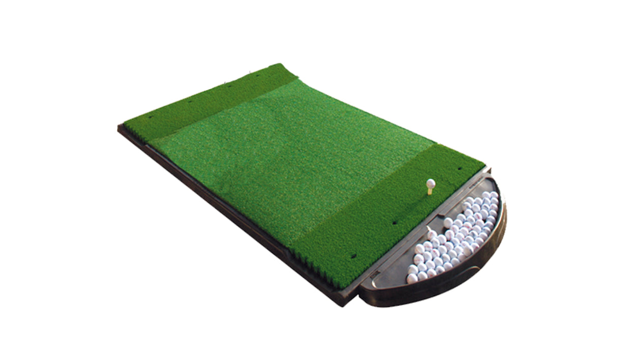 6' x 4' Double Hitting Mat Traditional Stance Fiberbuilt Grass