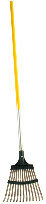 "Shrub Rake with 10"" Metal/Poly Head, 48"" AlumiLite Handle"