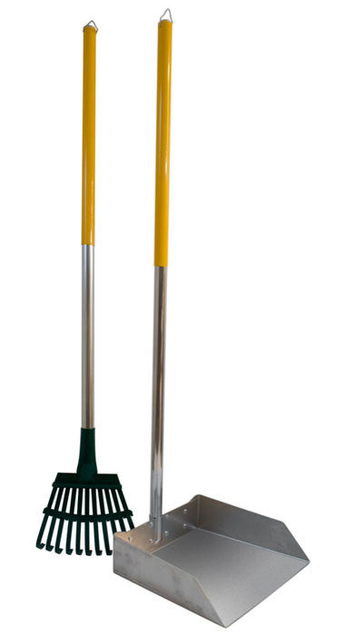 Large Dog Scoop and Rake Set with 3' Alumilite Handle