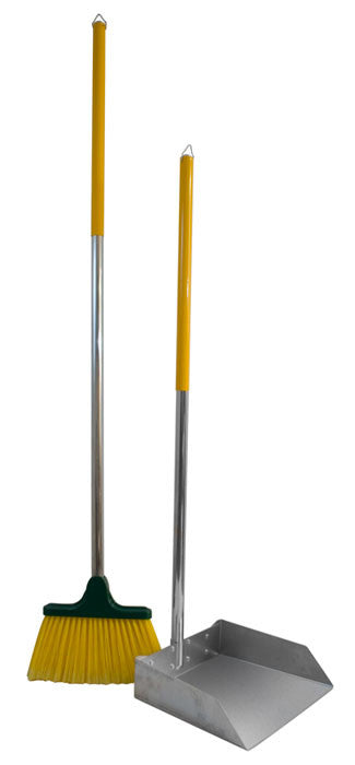 Large Dog Scoop and Broom Set with 3' Wood Handle