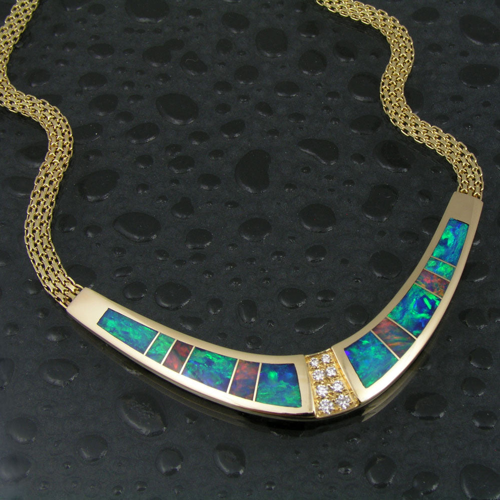 Australian opal necklace by Hileman