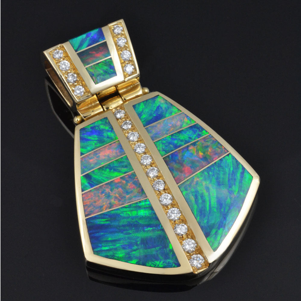 Top quality australian opal pendant designs the hileman collection diamond australian opal pendant by hileman aloadofball Image collections