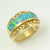 Opal ring in 14k gold
