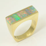 Australian opal ring in 14k gold by Hileman