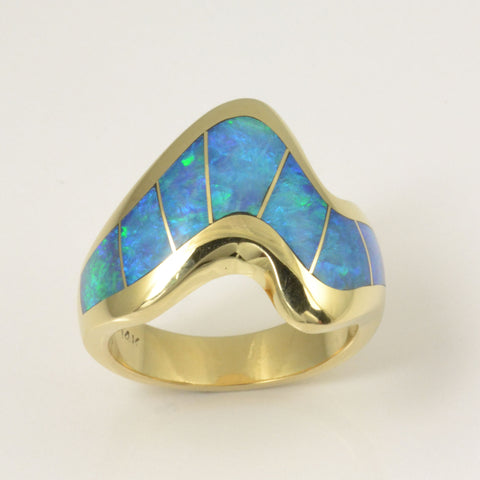 Opal inlay ring by Hileman