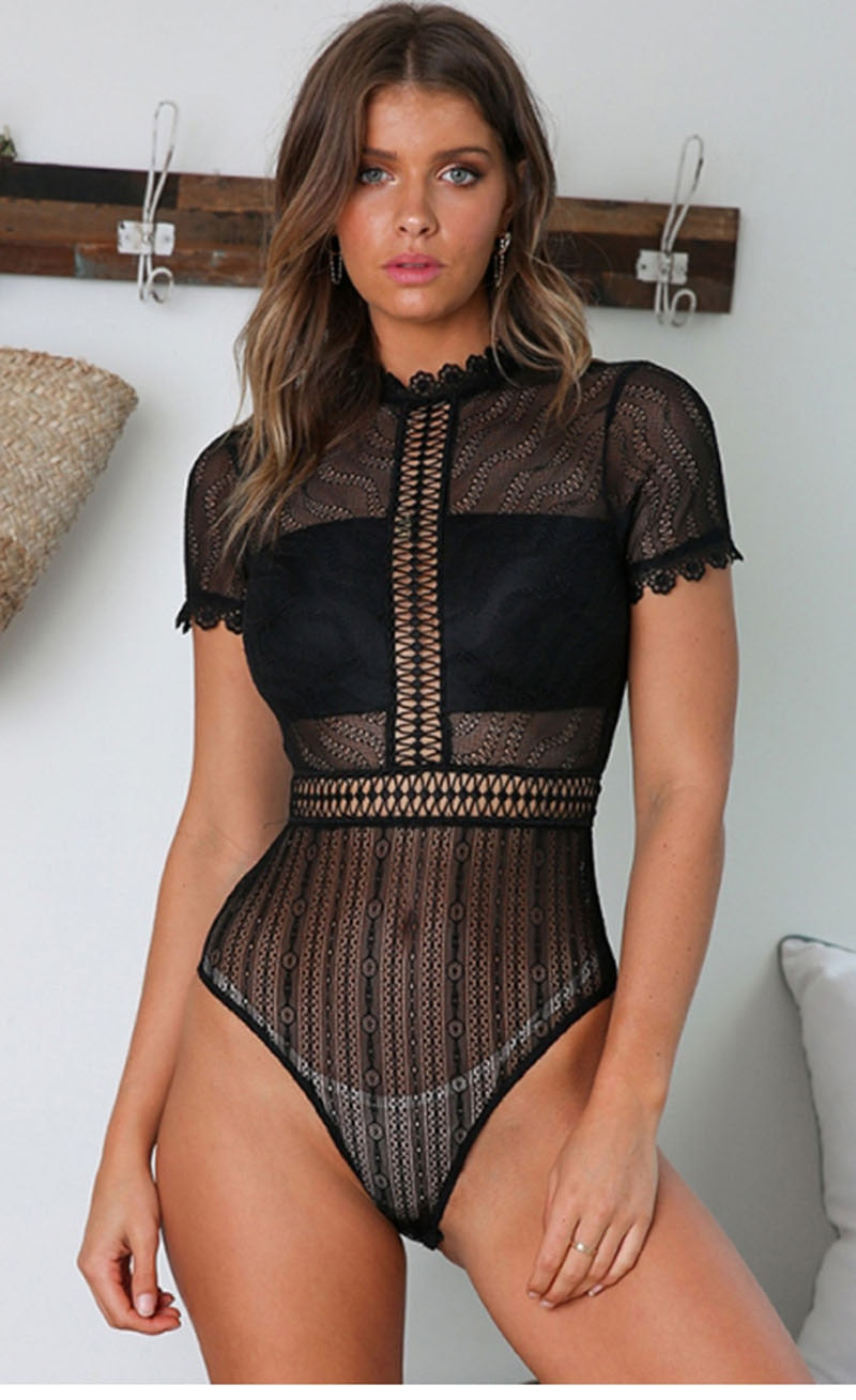 Short Sleeve Lace Bodysuit