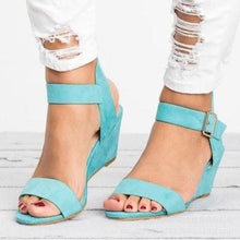 Platform Sandals Peep Toe High Wedges