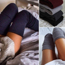 Soft Cable Knit Over knee Long Boot Thigh-High Warm Socks