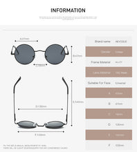 Polarized Sunglasses Small Round Alloy Frame