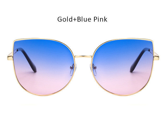 Oversized Gradient Cat Eye Sunglasses