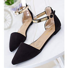 Shoes Metal Ankle Strap Ballerina Flats