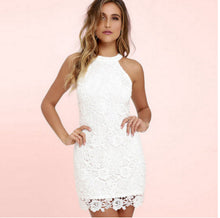 Pencil Sexy Sleeveless Short Lace Women  Party  Dress