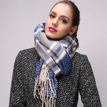 Wool Shaw Plaid Scarf