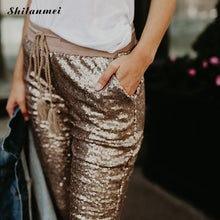 Sequin Low Waist Leggings