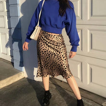 Leopard Print High Waist Skirt