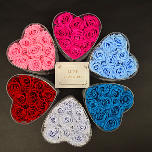 Small Heart Acrylic Box -customize! - Last more than 1 year
