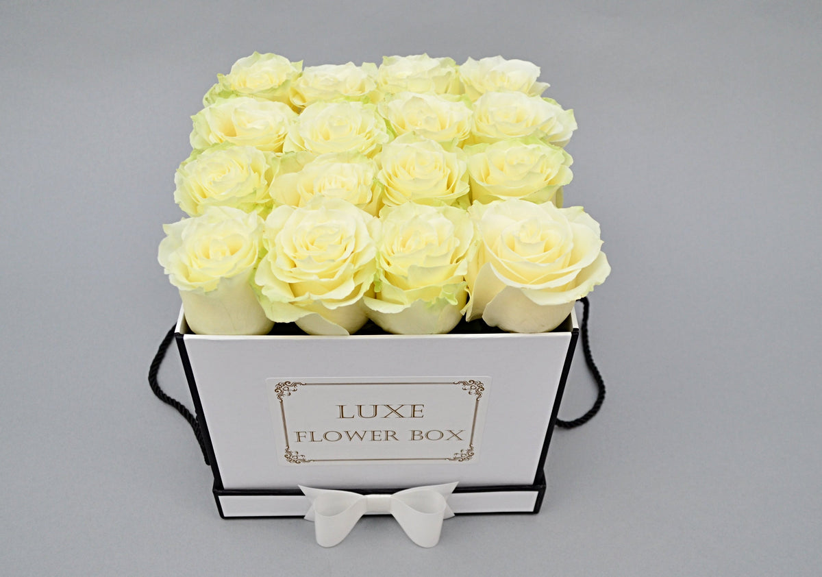 FRESH LUXURY ROSES IN SQUARE BOX
