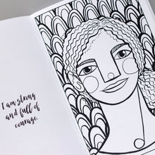 Interior page from the Courageous Coloring workbook, a coloring book for tween and teen girls.