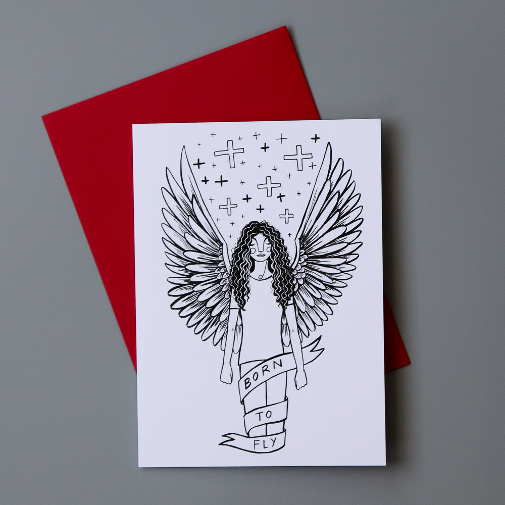 Born To Fly Greeting Card 4-pack