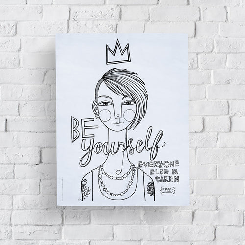 Be Yourself: Unique Coloring Page Printable
