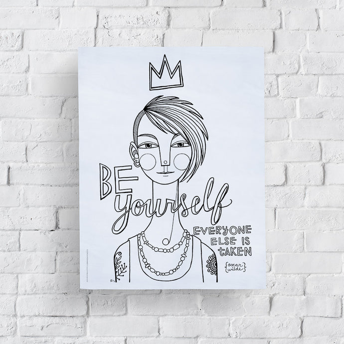 Be Yourself: March Coloring Page Printable