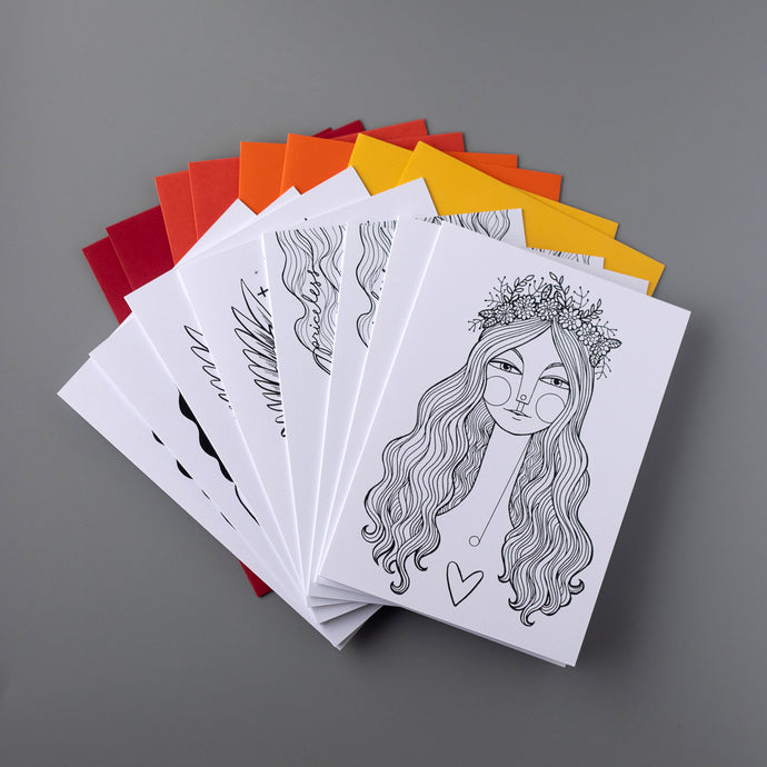 8-pack of Coloring Cards