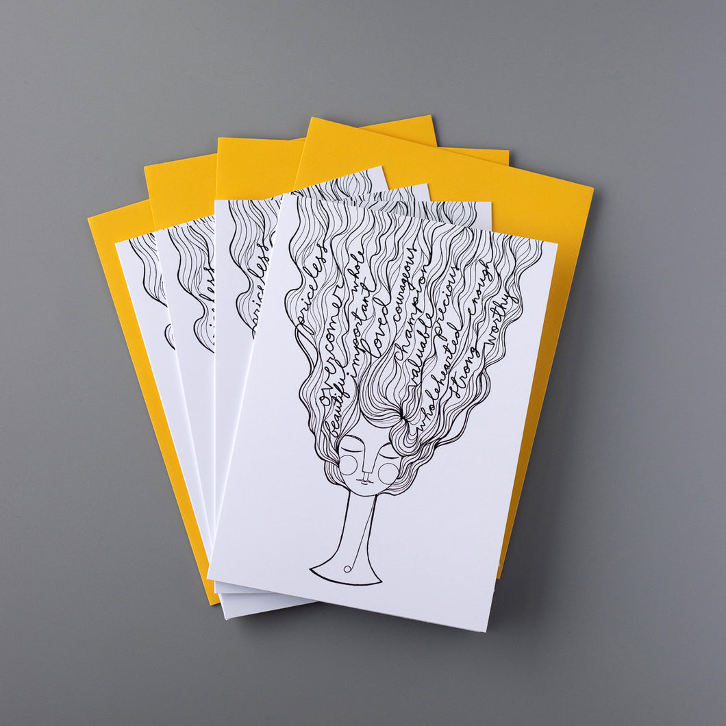 Identity Coloring Cards