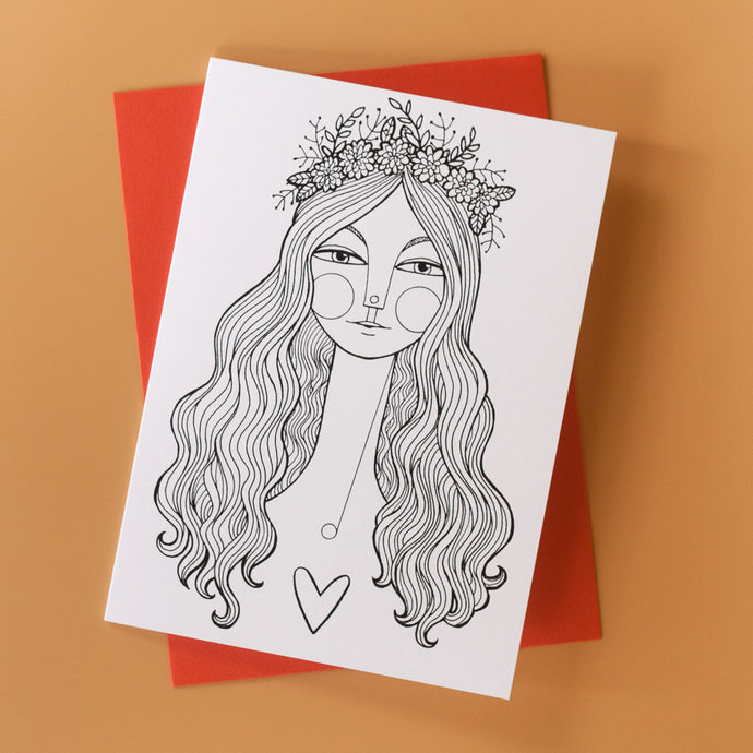Flower Girl Greeting Card 4-pack