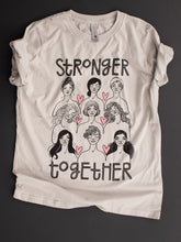 Stronger Together t-shirt features an illustration by Kim Bonner.