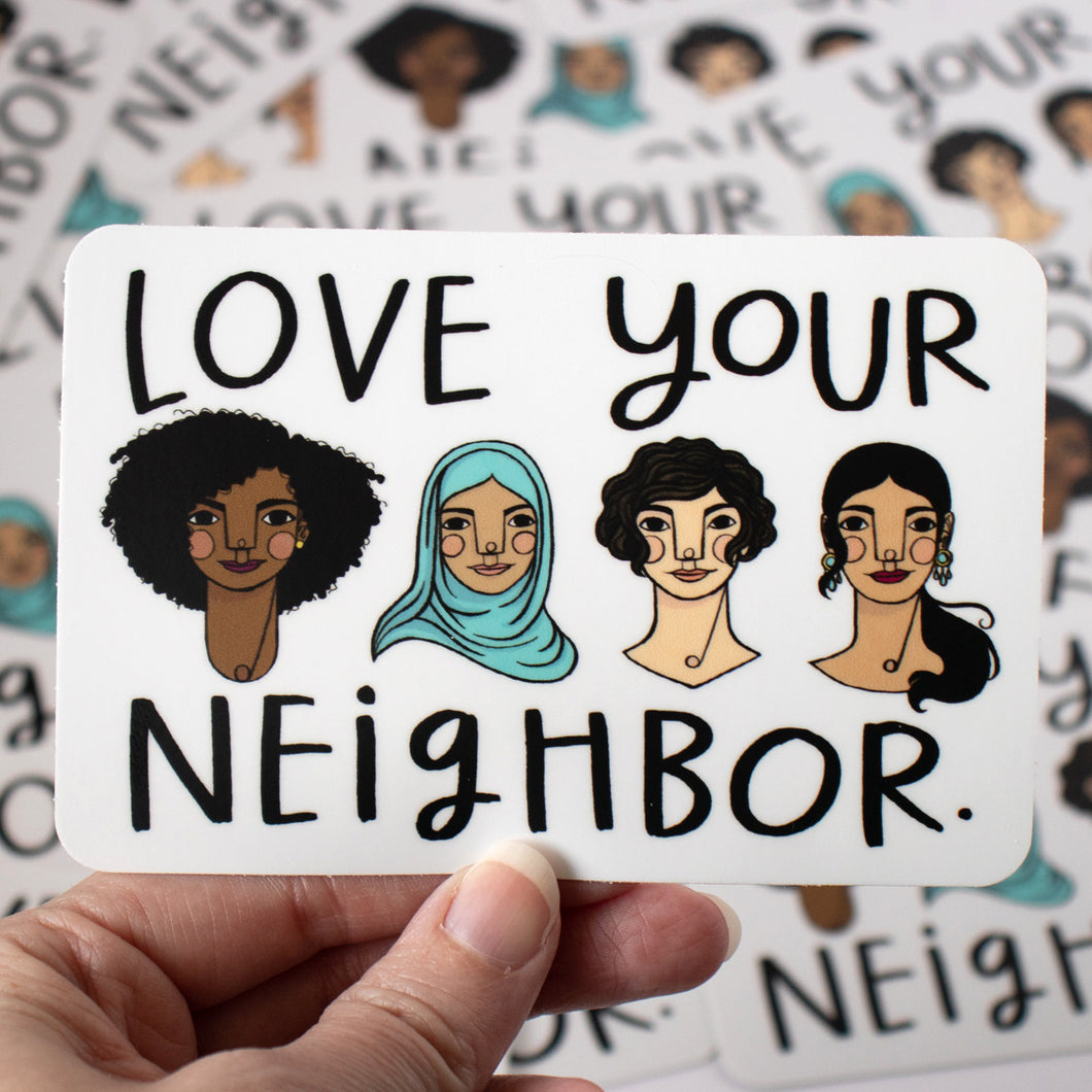 Love Your Neighbor sticker 3-pack