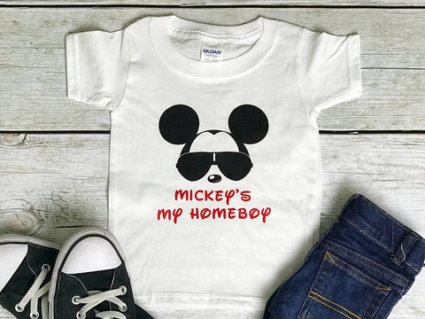 Mickey Minnie Glasses Tagged Mouse Birthday Shirt