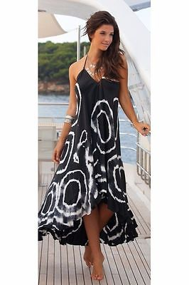 Women Dresses Summer Sling Sleeveless Print Circle Floor Length Boho Chiffon Party Evening Beach Long Maxi Dress Sundress