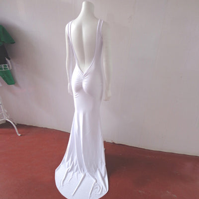 Celebrity White Red Long style Bandage sexy evening party Dress backless Vestidos de fiesta floor length gown