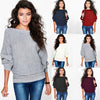 Knitted Sweater Women Sexy Winter Autumn Sweater Female Pullover Women Bat sleeve Loose Knitting Warm Jumper Pocket Top