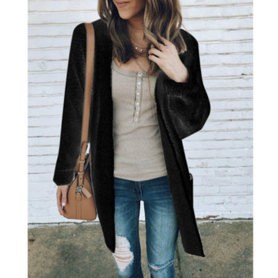 New Fashion Autumn Spring Women Sweater Cardigans Casual Warm Long Design Female Knitted Loose Coat Cardigan Sweater