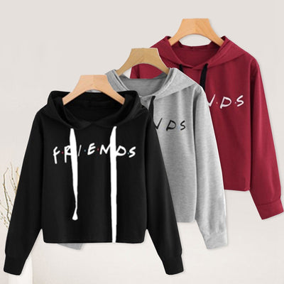 New Friends Printing Hoodies Sweatshirts Harajuku Crew Neck Sweats Women Clothing Feminina Loose Women Clothing Fall