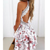 New Summer Bohemian Women Mini Dress Backless Beach Dress Holiday Boho Strapless Sexy Ball Gown Hippie Chic Dress