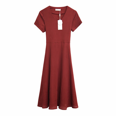 Summer New Korean Sexy Short Sleeve Backless Dresses Women V Neck Casual Solid Beach Sun Dress Lady Soft Elegant Vestidos