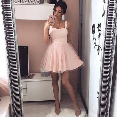 summer New Women strap Sleeveless Evening Party tulle Dress Short Mini Dress elegant female solid ball gown short dresses