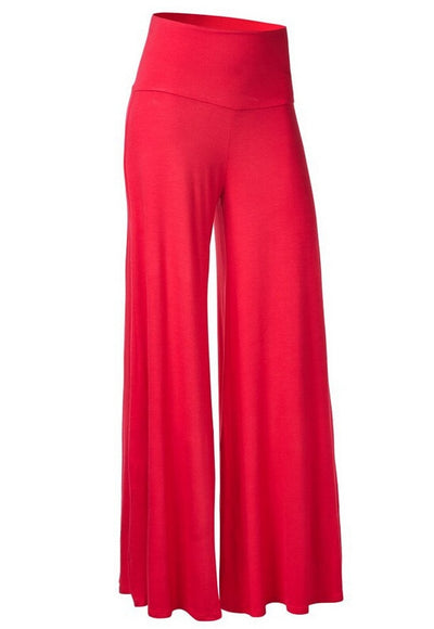 Summer Winter Capris Palazzo Pants For Women Wide Leg Pants High Waist Trousers Women Pants Plus Big Size Pantalon Femme