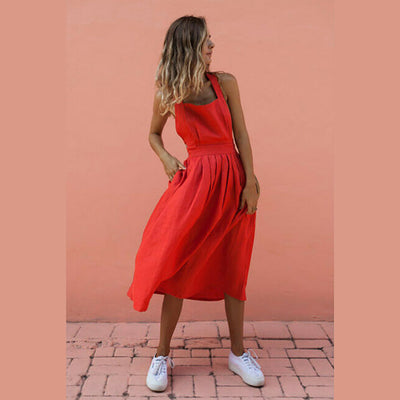 Women Boho Strappy Sexy Dress Evening Party Beach Sundress Holiday Ladies Clothes Backless Off Shoulder Summer Fashion New