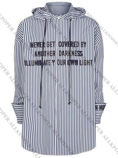 ALLKPOPER KPOP BTS JIMIN Striped Shirt Bangtan Boys Wings Fansigning Embroidery Blouse Gift Keychain