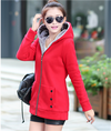 Autumn Women Hoodies cotton mixed Zip-up zipper Solid Full-Sleeve Hooded Casual Hoodies Sweatshirts Plus Size M-4XL NS8713