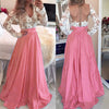 Backless Dress Women Spring V-neck Long Sleeve Sexy Dresses Hollow Out Patchwork Lace Slim Long Maxi Elegant Party Dress Vestido