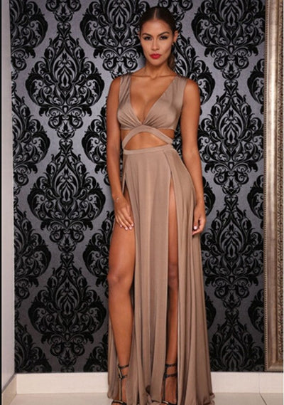 Backless Dress Womens Hollow Out Sexy&Club Dresses Empire Long Elegant Dress New Floor-Length