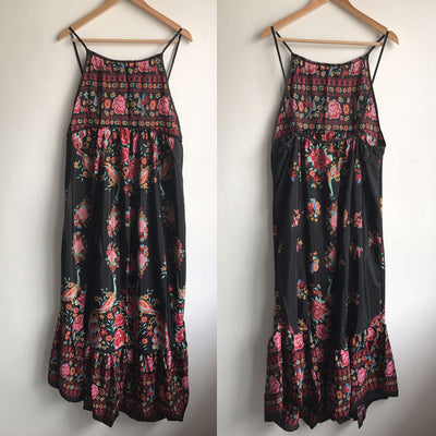 Bellflowe Summer Boho Dress Etehnic Sexy Retro Print Vintage Dress Sleeveless Beach Dress Bohemia Hippie Dress Robe Vstido Mujer